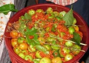 блюда из зеленых помидор