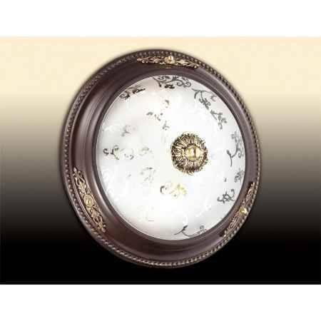 Купить Светильник потолочный ODEON LIGHT 2671/2C ODL14 049, E27 2*60W 220V Corbea, коричн с зол.декор/белый