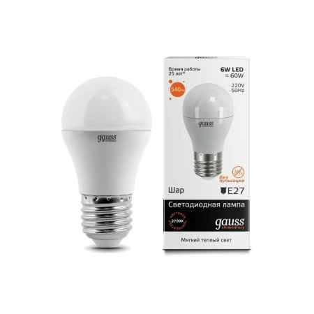 Купить Упаковка ламп 10 шт Gauss LED Elementary Globe 6W E27 2700K LD53216
