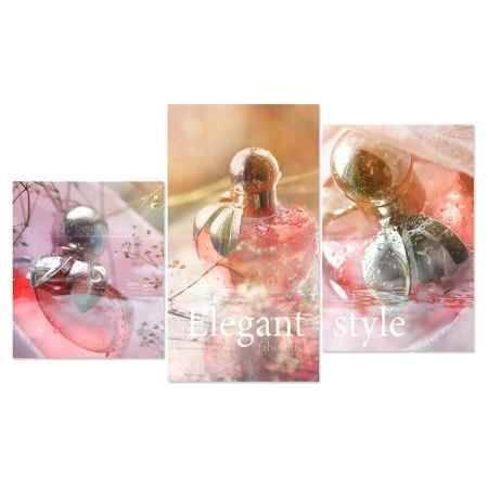 Купить Модульная картина Топпостерс, Элегантный флакон, 50x78 см, 3 части