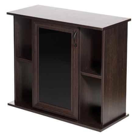 Купить Пoдставка Аква Плюс 80 с одной дверкой МДФ со стеклом, тон. стекло, венге, в коробке, ПВХ