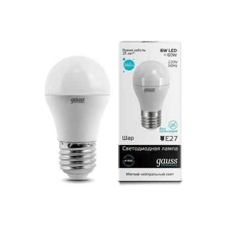 Купить Упаковка ламп 10 шт Gauss LED Elementary Globe 6W E27 4100K LD53226