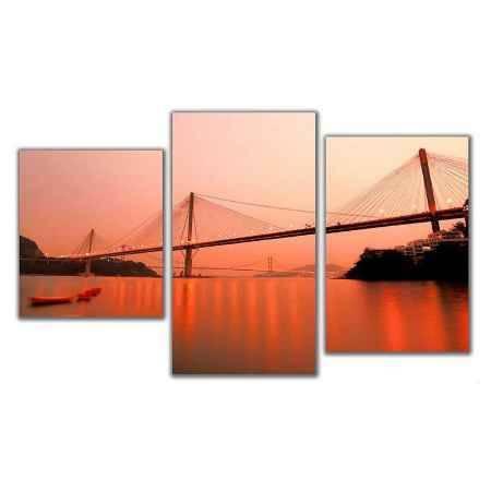 Купить Модульная картина Топпостерс, Мост на заре, 50x78 см, 3 части