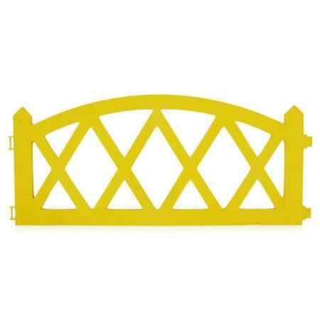 Купить Ограждение садовое Happy Time АРКА 2,4м, цвет желтый