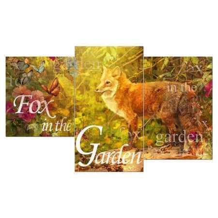 Купить Модульная картина Топпостерс, Лисица в саду, 50x78 см, 3 части