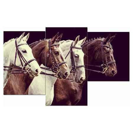 Купить Модульная картина Топпостерс, Великолепные лошади, 50x78 см, 3 части