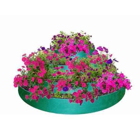 Купить Цветник 4-х ярусный ГарденПласт, S посадки 0,8м2, h48см, зеленый