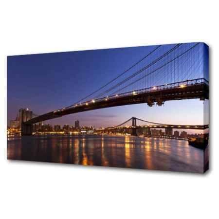Купить Холст Топпостерс, По Бруклинскому мосту, 60х120 см