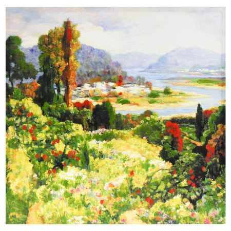 Купить Картина-репродукция Феникс-Презент Пейзаж, 60x60x2.5 см, без рамки