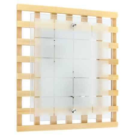 Купить Светильник настенный Colosseo ISCHIA 10138/2, светлое дерево/хром, E27 2х60W