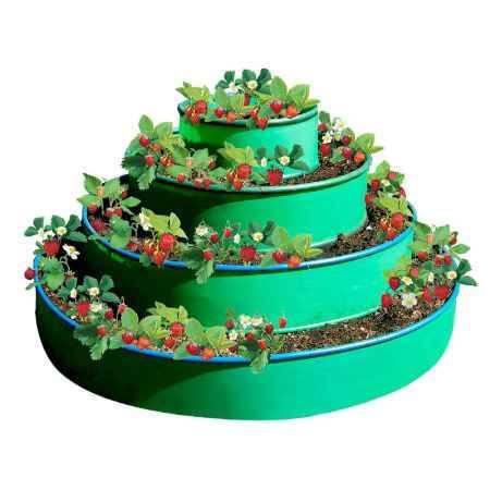 Купить Грядка 4-х ярусная ГарденПласт, S посадки 2,2м2, h100см, зеленая