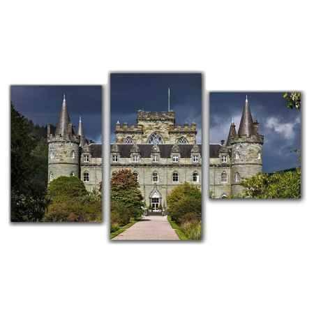 Купить Модульная картина Топпостерс, Замок, 50x78 см, 3 части