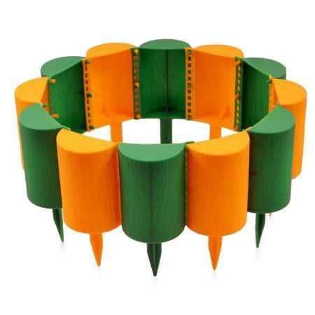 Купить Бордюр садовый ПРОТЭКТ Пеньки 15см х 1,6м, желто-зеленый
