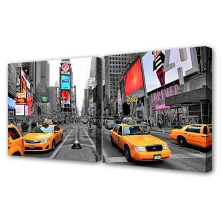Купить Модульная картина Топпостерс, По улицам Нью Йорка, 100х50 см, 2 части