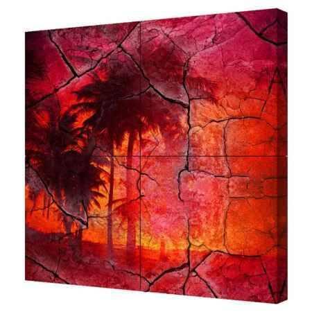 Купить Модульная картина Топпостерс, Жаркие тропики, 100х100 см, 4 части