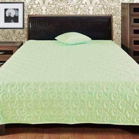 Купить Покрывало Беллиссимо Шелк (Taice) 140х200, шелк с тиснением однотонный, цвет светло-зеленый