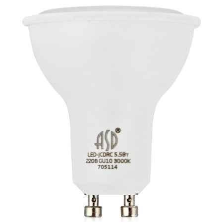 Купить Упаковка ламп светодиодных 10 шт ASD LED-JCDRC-standard 5.5Вт 160-260В GU10 3000К 420Лм