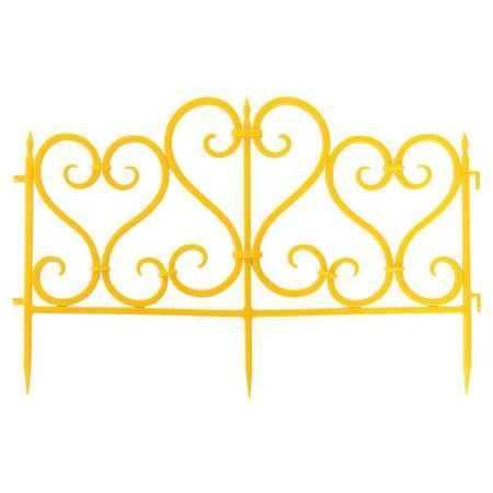 Купить Ограждение садовое Ажурное 3м, цвет желтый