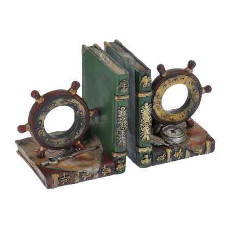 Купить Комплект подставок для книг 2 шт Феникс-Презент Штурвал, 31x9,6x15,5 см