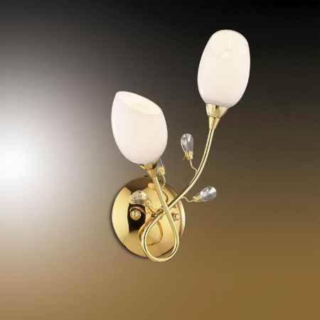 Купить Бра ODEON LIGHT 1604/2W ODL10 181, E14 2*60W 220V FIERA, золото
