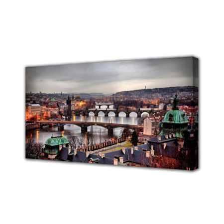 Купить Холст Топпостерс, Пражские мосты, 50х100 см