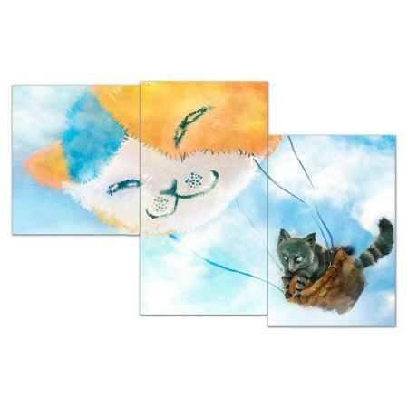 Купить Модульная картина Топпостерс, Воздушный путешественник, 50x78 см, 3 части