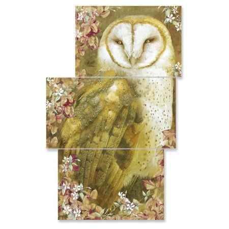 Купить Модульная картина Топпостерс, Золотая сова, 50x78 см, 3 части