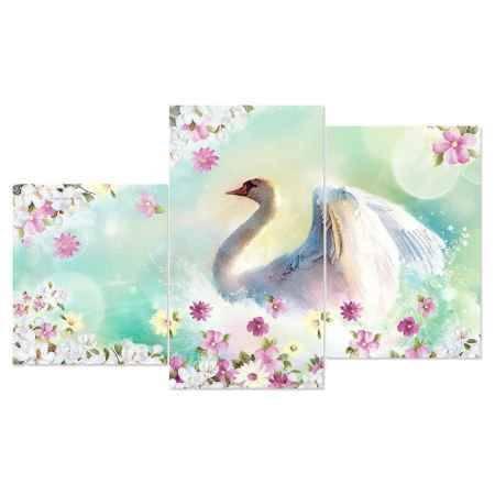 Купить Модульная картина Топпостерс, Сказочный лебедь, 50x78 см, 3 части