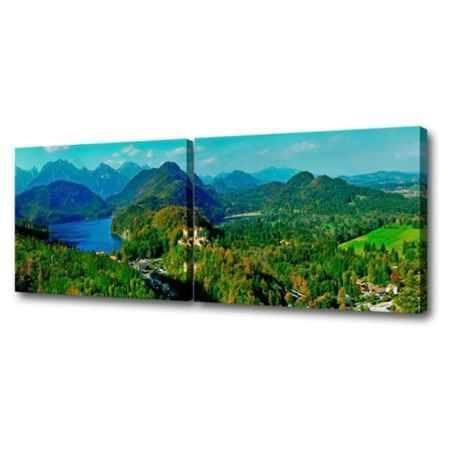 Купить Модульная картина Топпостерс, Зов гор, 150х50 см, 2 части