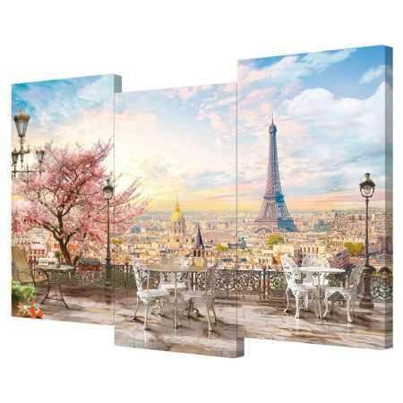 Купить Модульная картина Топпостерс, Мечты о Париже, 150х110 см, 3 части