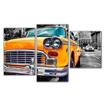 Купить Модульная картина Топпостерс, Ретро такси, 50x78 см, 3 части