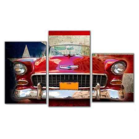 Купить Модульная картина Топпостерс, Кубинский транспорт, 50x78 см, 3 части