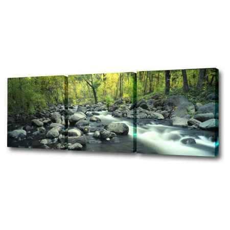 Купить Модульная картина Топпостерс, Каменистый ручей, 150х50 см, 3 части