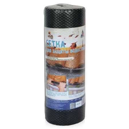 Купить Сетка для защиты водостоков ПРОТЭКТ 0,4х9м, ячейка 7х7мм, черная