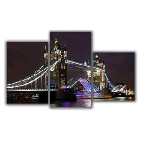 Купить Модульная картина Топпостерс, Мост через Темзу, 50x78 см, 3 части