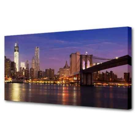 Купить Холст Топпостерс, Через Бруклинский мост, 60х120 см