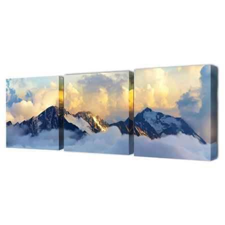 Купить Модульная картина Топпостерс, Вершины, 150х50 см, 3 части