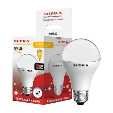 Купить Упаковка ламп 10 шт SUPRA SL-LED-PR-A60-10W/3000/E27