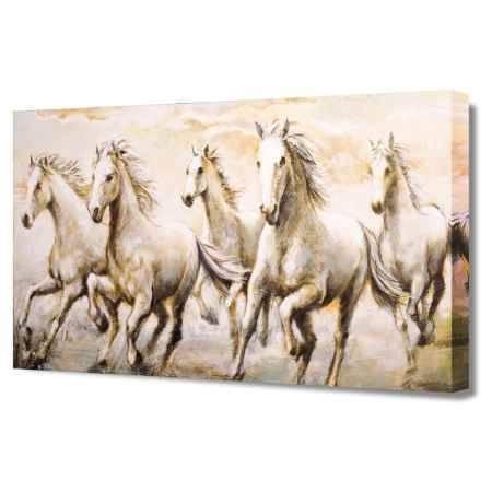 Купить Холст Топпостерс, Дикие лошади, 60х120 см