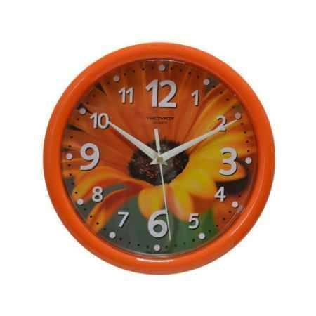 Купить Часы настенные Тройка 21251226, (Герберы, круг, пластик), диаметр 245 мм