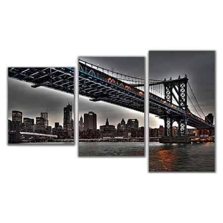 Купить Модульная картина Топпостерс, Бруклинский мост IV, 50x78 см, 3 части