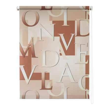 Купить Штора рулонная Уют Скрипт 8918, 80 см x 175 см, цвет бежевый