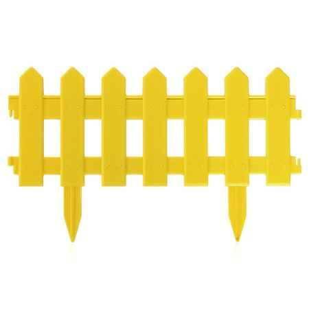 Купить Ограждение садовое Палисадник 1,9м, цвет желтый