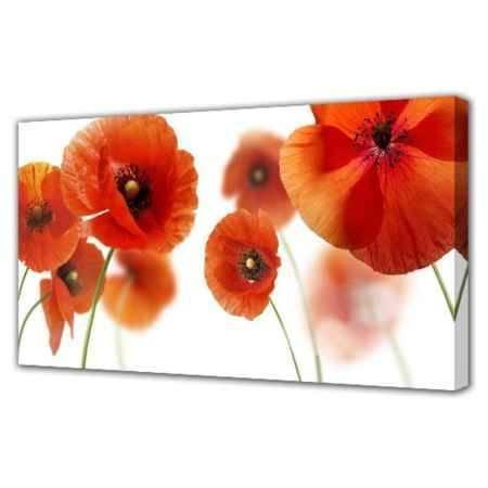 Купить Холст Топпостерс, Красные цветы, 50х100 см