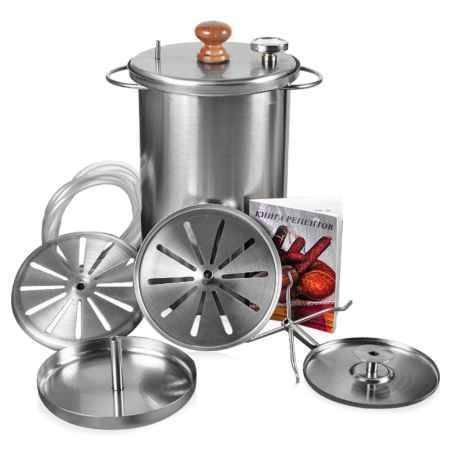Купить Коптильня с гидрозатвором HANHI 350290, нержавеющая сталь