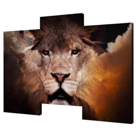 Купить Модульная картина Топпостерс, Царь зверей, 150х90 см, 3 части