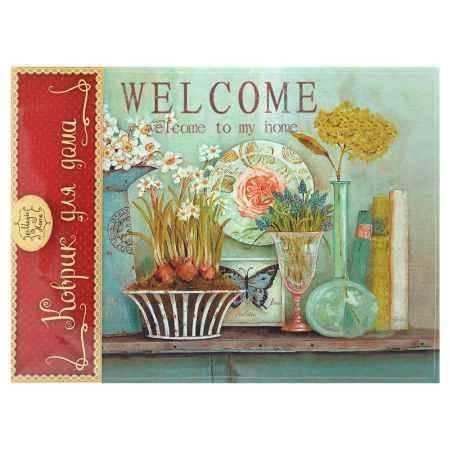 Купить Коврик для входной двери Феникс-Презент Кувшины с цветами, 60x45см