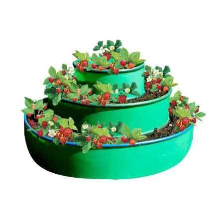 Купить Грядка 3-х ярусная ГарденПласт, S посадки 1,3м2, h75см, зеленая