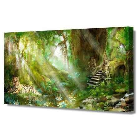 Купить Холст Топпостерс, Тихие джунгли, 50х100 см