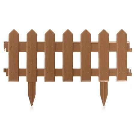 Купить Ограждение садовое Палисадник 1,9м, цвет коричневый